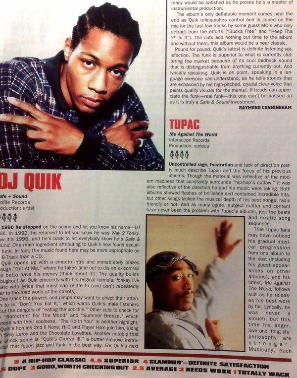 DJ Quik, sa rencontre avec Pac, anecdote en studio et production :