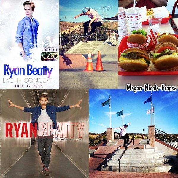 Nouvelles vidéos de Megan sur Keek, et Ryan nous annonce que sont nouveau single Because of you sortira le 24 juillet.