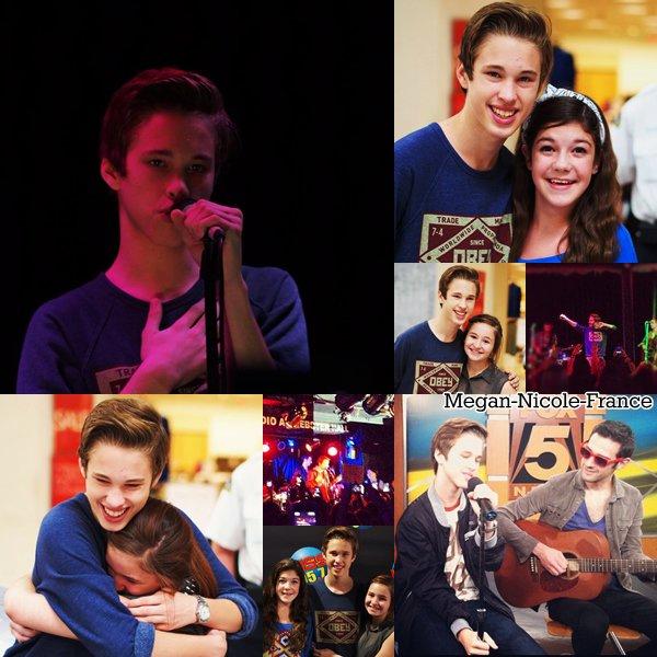 Nouvelles photos de Megan et Ryan.Le prochain clip de Megan sera tourné dans un cinéma.