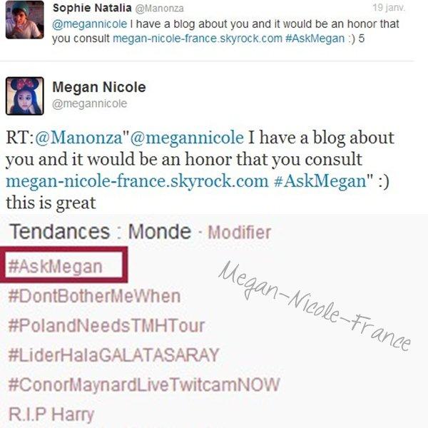 • Rattrapage des news• Le prochain cover de Megan sera Kiss You des OD