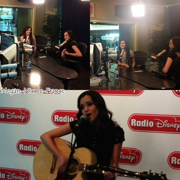 • Photos du passage de Megan à Radio Disney