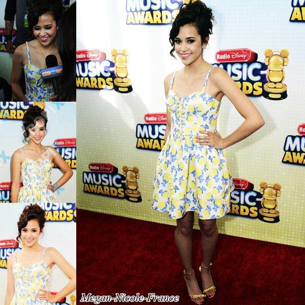 • Megan était présente aux Radio Disney Music Awards