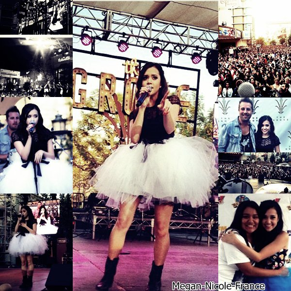• Photos de Megan lors de sont concert à The Grove