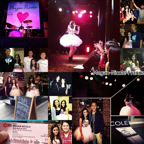 • Photos et vidéos de Megan lors de sont concert à San Fransico