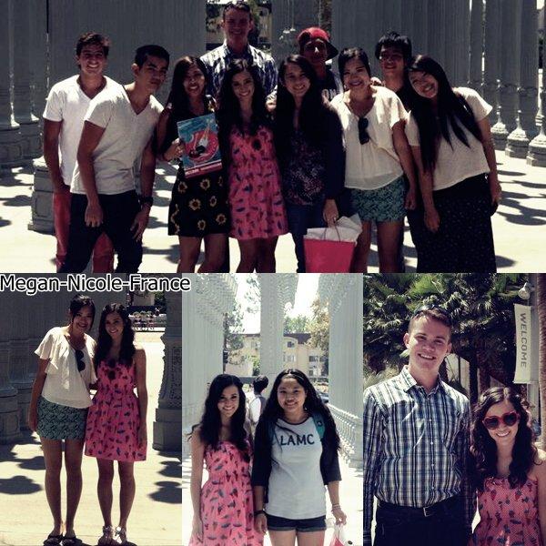 • Megan a rencontrer plusieurs groupes de fans a Los Angeles