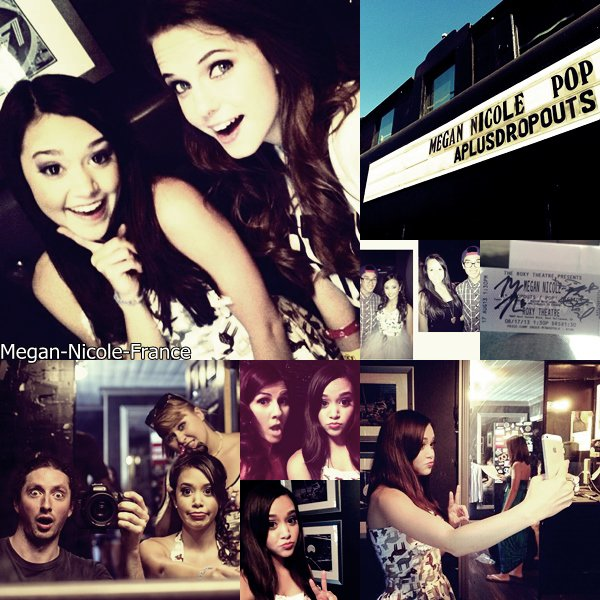 • Photos et vidéos du concert de Megan au Roxy Theater