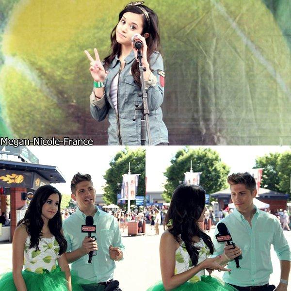• Megan était présente au Arthur Ashe Kids Day