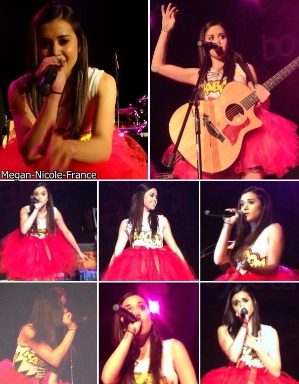 • Megan sera en concert à Paris le 2 février