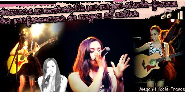 • Découvre les performances live de Megan
