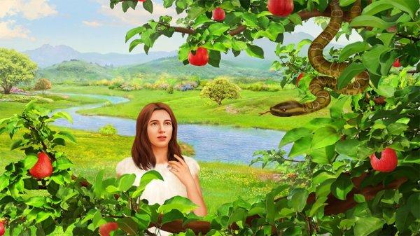 Une femme est tentée par un serpent