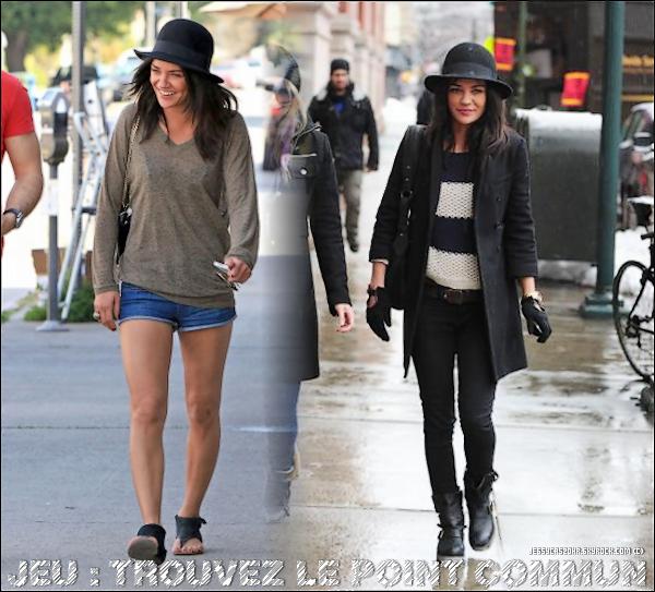 .31/03/2011 - Pour le jour de son anniversaire (26 ans) Jessica a été vue déjeunant à Studio City (à Los Angeles) .