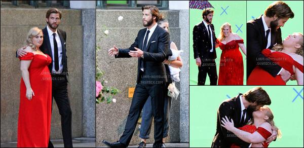 """31.07.2017 : Liam Hemsworth  était sur le tournage de """"Isn't it romantic"""" avec Rebel Wilson à  New York"""