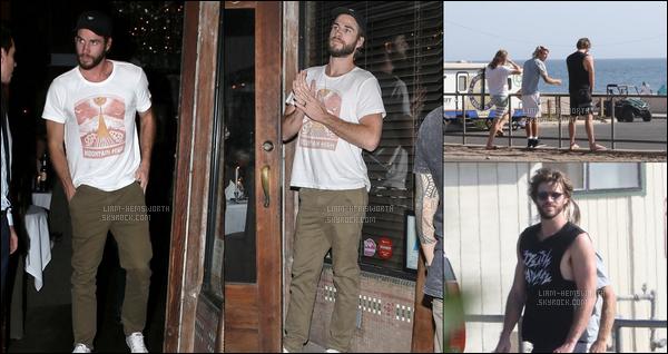 28.08.2017 : Liam Hemsworth  et ses frères Luke et Chris ont été déjeuner ensemble à   Santa Monica