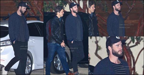 05.10.2017 : Liam Hemsworth était de sortie avec son frère aîné Luke au restaurant Nobu en  Californie