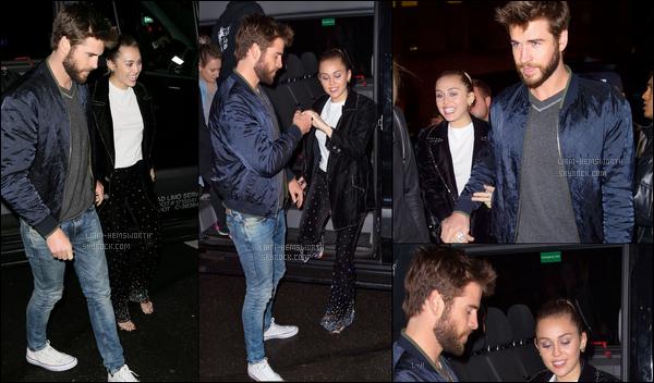 05.11.2017 : Liam Hemsworth  et sa fiancée Miley Cyrus se sont rendus à une soirée qui se déroulait à New York