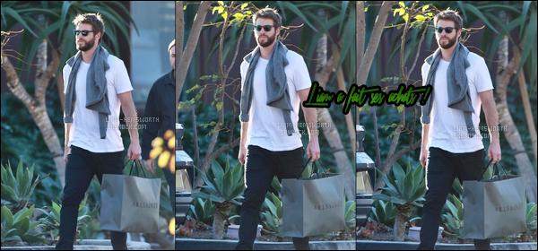 21.12.2017 : Liam Hemsworth à été vu faisant ses achats de noël seul à Los Angeles -peu de photos dispo !