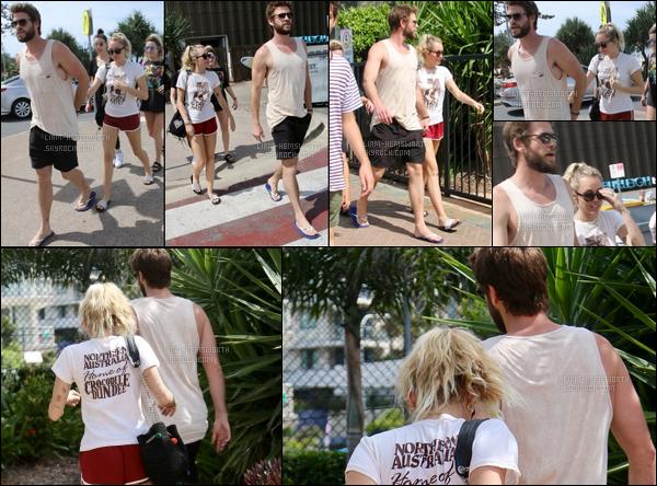 11.01.2018 : Liam Hemsworth toujours avec sa petite-amie Miley Cyrus étaient dans le Queensland (Australie)