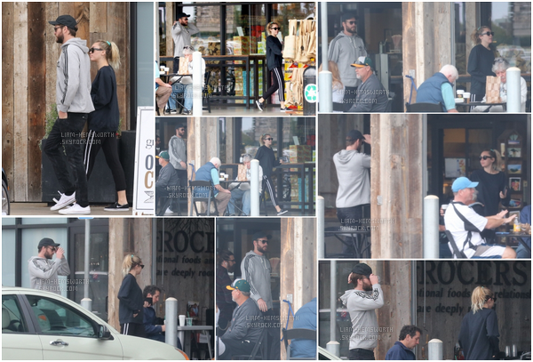 10.02.2018 : Liam Hemsworth et sa fiancée Miley Cyrus en mode décontractés ont été vu à une épicerie à Malibu