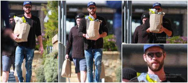 27.02.2018 : Liam Hemsworth cette fois-ci seul a été vu en train de faire ses courses à Malibu (Californie)
