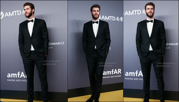 """26.03.2018 : Liam était présent sur le tapis rouge des  """"amfAR"""" qui se sont tenus à Hong Kong en Chine"""