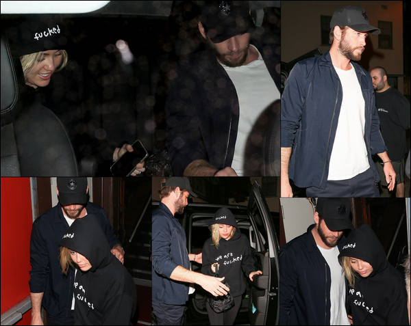 11 Avril 2018 : Liam toujours en compagnie de sa chérie Miley Cyrus à West Hollywood en Californie