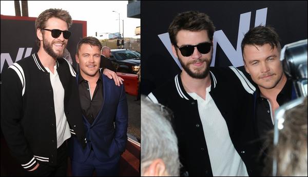 16 Avril 2018 : Liam avec son frère aîné Luke était à la première de la saison 2 de Westworld à  Los Angeles