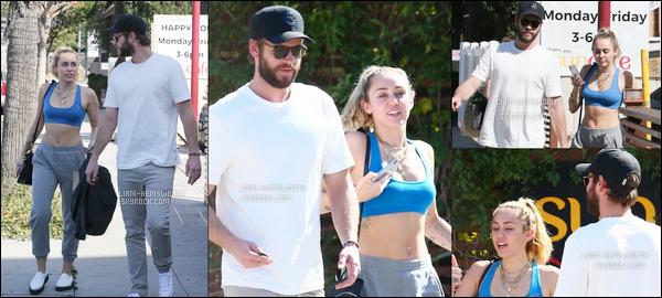 05.05.2018 : Notre petit couple Liam et Miley  sont allés prendre leur petit déjeuner au Sun Café à Los Angeles