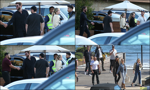 06.04.2019   ▬ Liam Hemsworth et son épouse Miley Cyrus ont été aperçu dînant à Soho House situé à Malibu    Je trouve ces jeunes mariés vraiment mignon , ils avaient l'air visiblement très souriants pour ma part ça sera un top