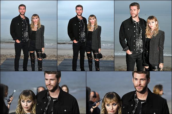 06.06.2019 :  Liam était au défilé de mode  « Yves Saint Laurent Men's Spring Summer 2020 » situé à Malibu   Liam Hemsworth était accompagné de sa femme Miley Cyrus et ils étaient très élégants tous les deux c'est un top !