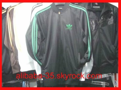 Verte Survetement Firebird Noir Bande Adidas Adicolor mgIy6f7Ybv