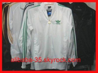 Veste adidas blanche verte