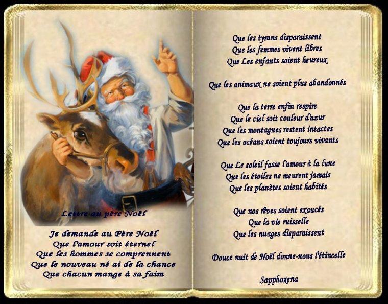 Lettre au pere Noël