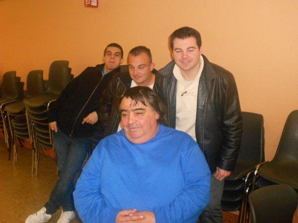 Mon Parrain, et ses 3 fils Xavier, Cyril et Damien