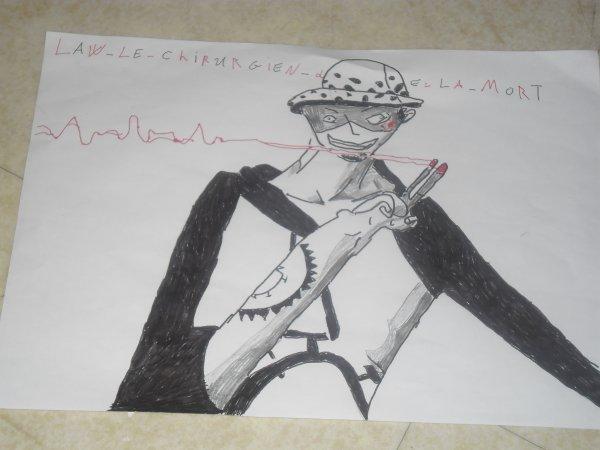 vois la mais 8   dessin de one piece que j'ai fais