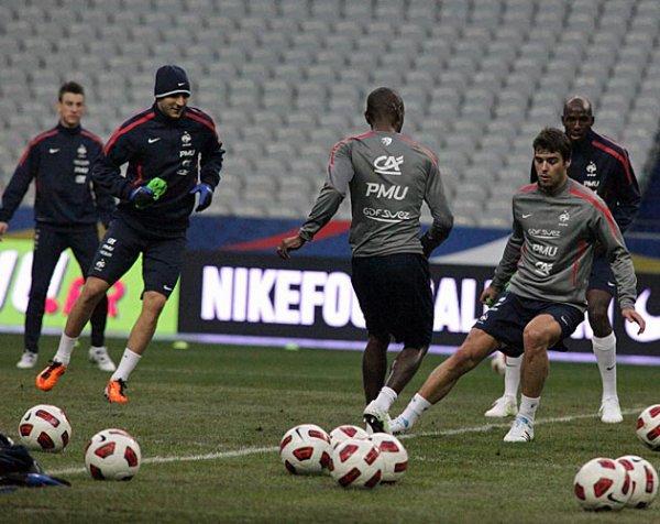 Rubrique :  VU Yoann Gourcuff  lors de son séjour à Clairefontaine entre le 7 et 9 février   avant la rencontre France-Brésil au stade de France