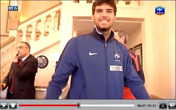 Rubrique :  VU Yoann Gourcuff  lors de son séjour à Clairefontaine le 21 mars  avant la rencontre Luxembourg-France