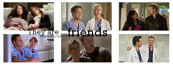 friendship on Grey's Anatomy.
