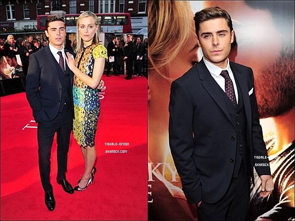 """*   23 avril 2012 : Zac et Taylor à l'Avant Première de """"The Lucky One"""" à Londres.     *"""