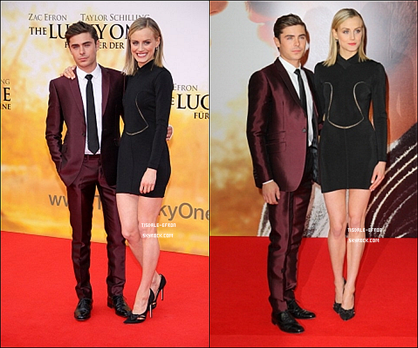"""*   25 avril 2012 : Zac et Taylor à l'Avant Première de """"The Lucky One"""" à Berlin cette fois-ci. Découvrez le """"behind the scenes"""" du shoot de Zac pour le magazine MEN'S HEALTH       *"""