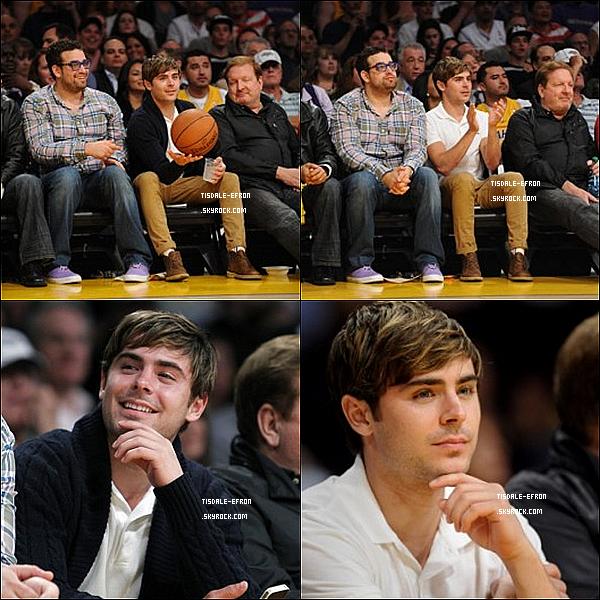 *  1er mai 2012 : Zac assistant à un match de basket des Los Angeles Lakers au Staple Center. 1er mai 2012 : Quant à Ashley , elle a été vue sortant d'un salon de manucure à Los Angeles.   *