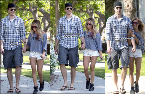 *  5 mai 2012 : Ashley a été vue à Toluca Lake avec Scott. TOP/BOF/FLOP pour sa tenue ? :)    *