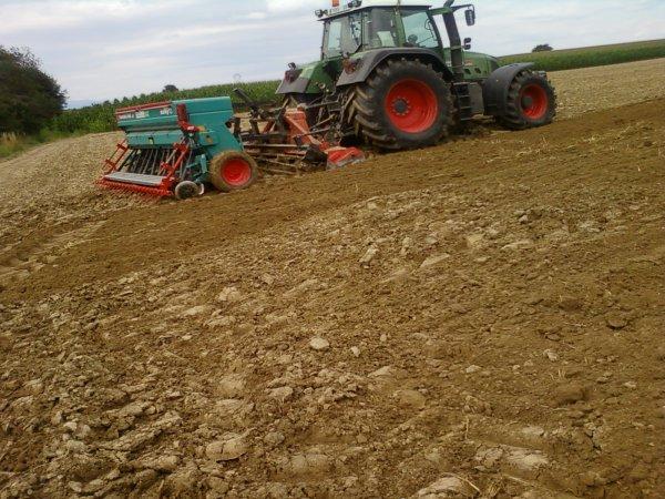 labour et semis avec un fendt 718 vario