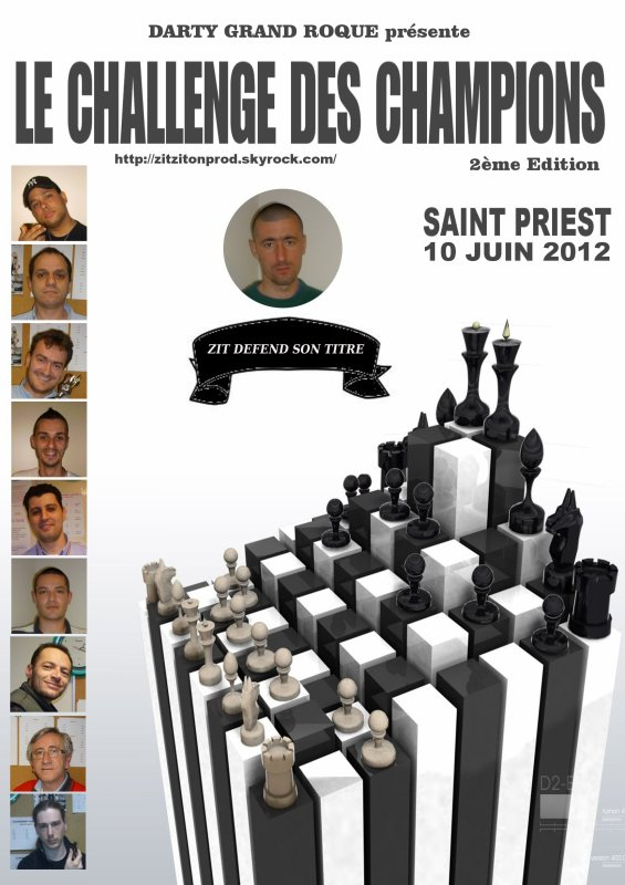 821) L'AFFICHE OFFICIEL DU CHALLENGE DES CHAMPIONS (DEUXIEME EDITION)