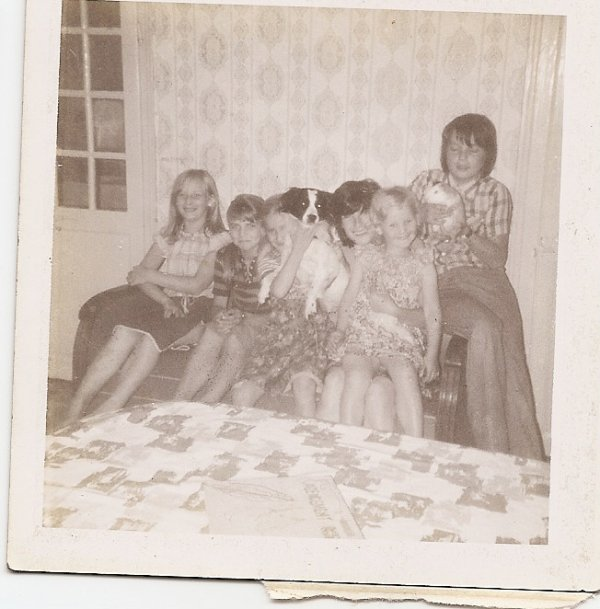 une photo de famille en vacance
