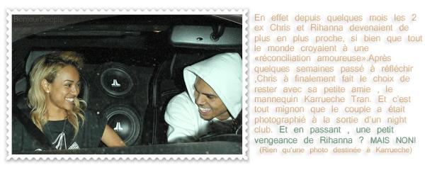 ♦ Article n° 91 │Un rapprochement entre Chris et Rihanna ? NON.      8888               Une Rihanna jalouse ? OUI.