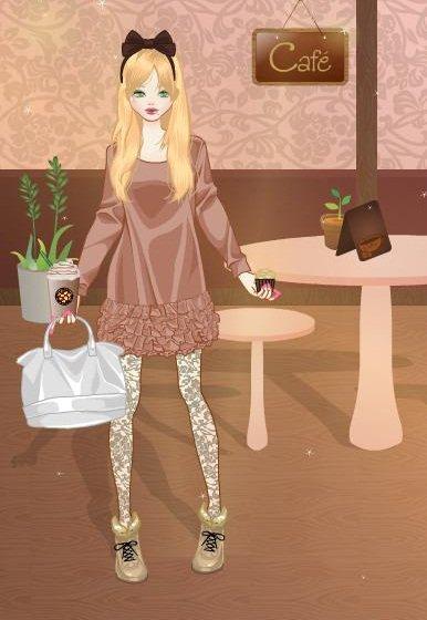 Nagisa in coffee