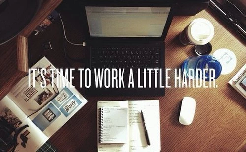 it's time to work