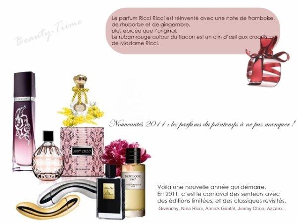 Nouveautés 2011 : les parfums du printemps à ne pas manquer !