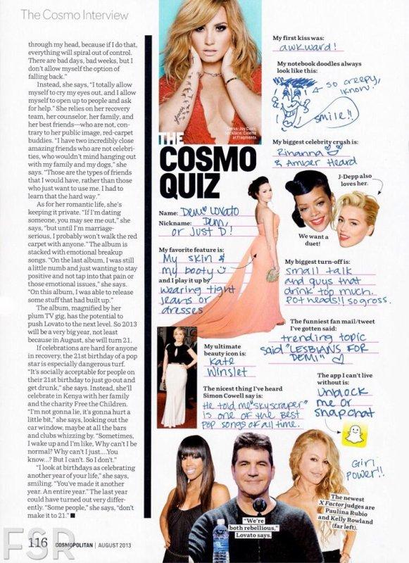 Couverture + scans du magazine Cosmopilitan !