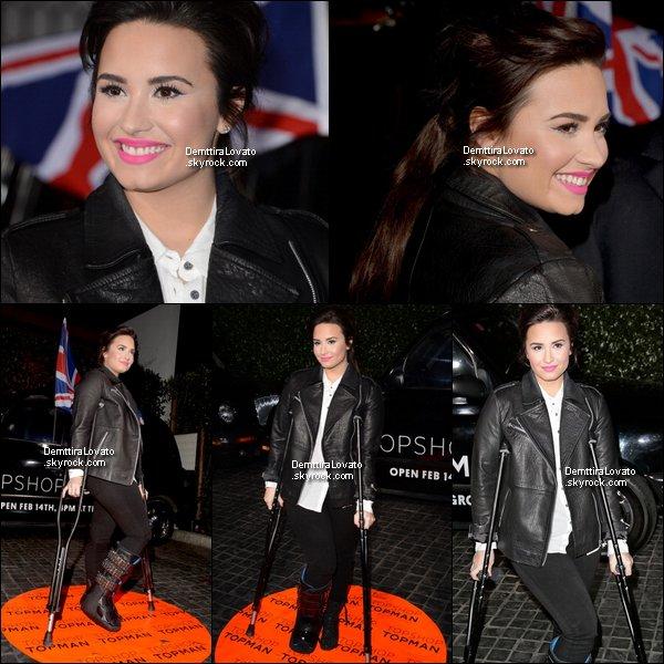 .               13 Février Demi était à soirée pour l'ouverture du magasin Topshop Topman au Cecconi à West Hollywood, Los Angeles.                                                          .